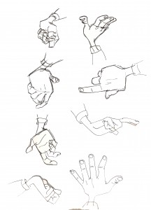 """Hogarth Hughes' hands from """"The Iron Giant"""""""