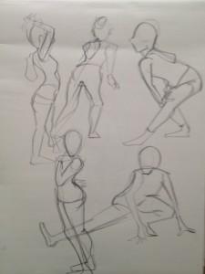 One minute drawings