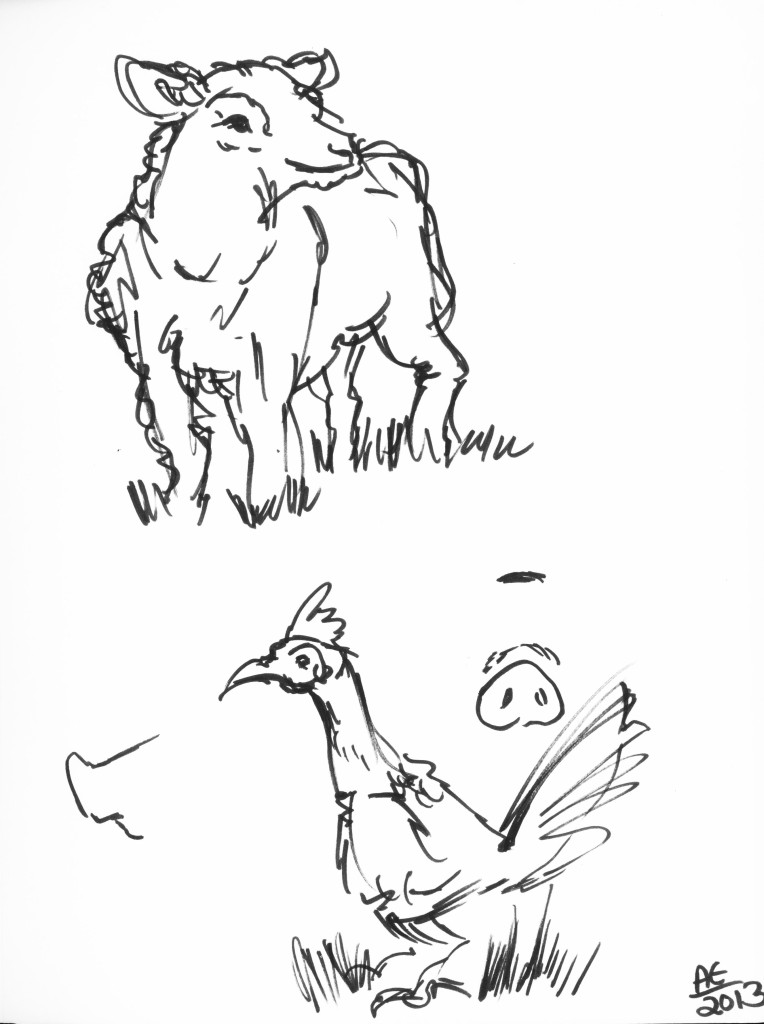 Sheep and Chicken