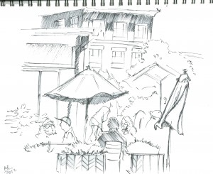 Union Square Sketch 03